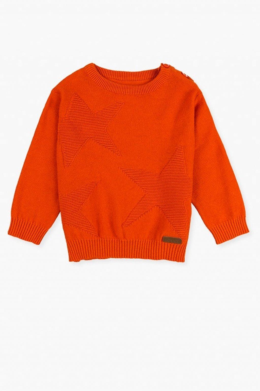 LOSAN - Elegantní svetr (Barva Oranžová, Velikost 92)