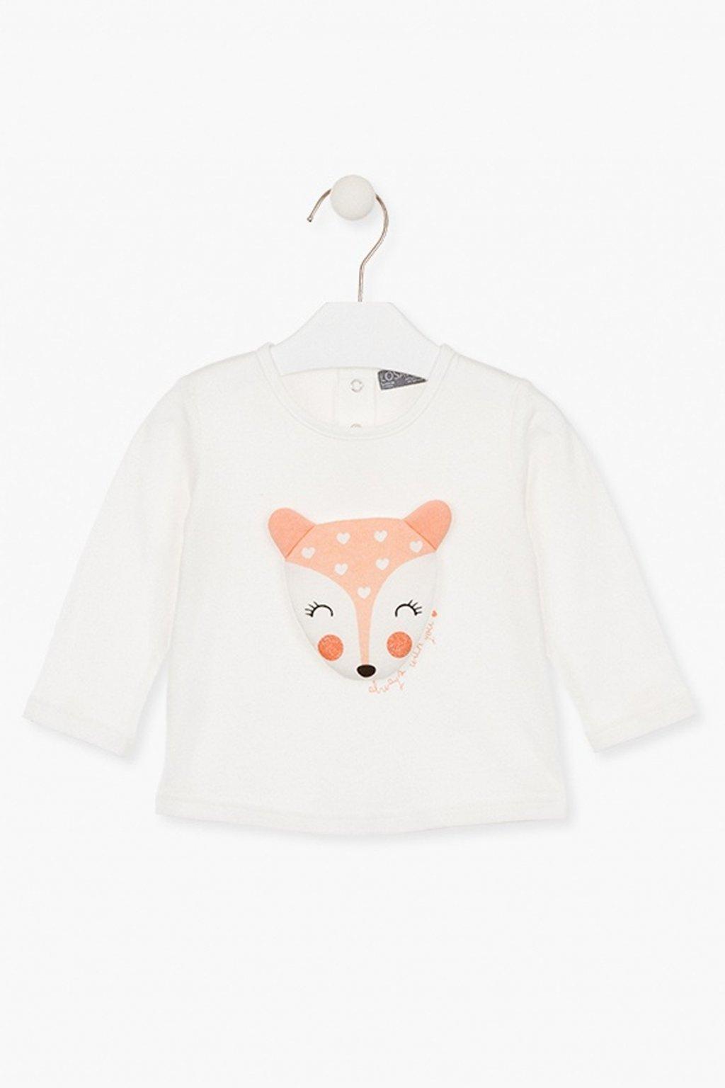 "LOSAN - Tričko ""fox"" (Barva Béžová, Velikost 92)"