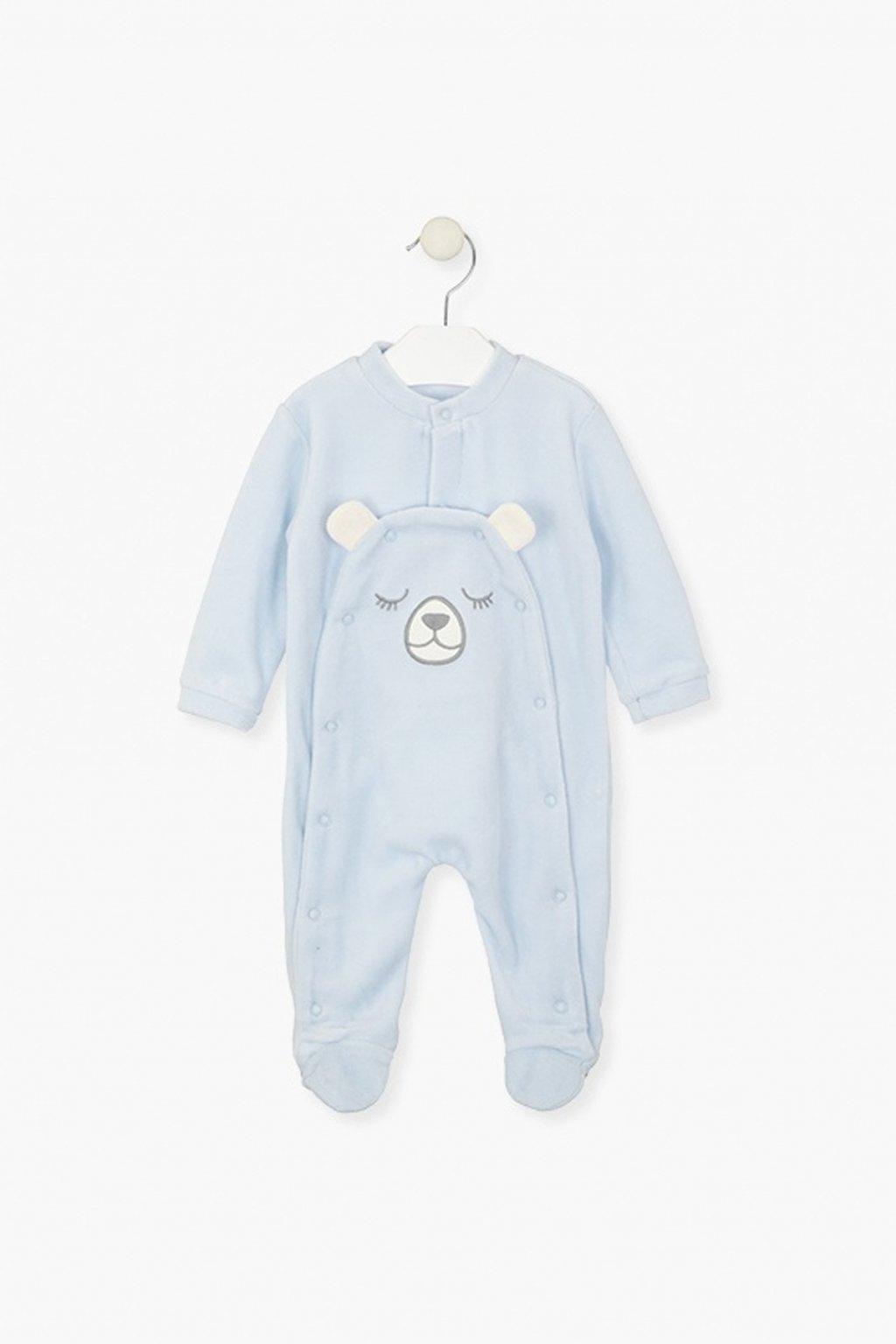 """LOSAN - Dupačky """"pyjama"""" (Barva Světle modrá, Velikost 80)"""