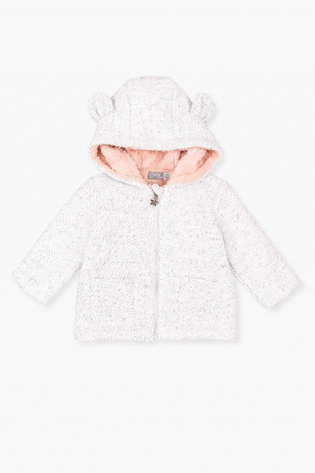 LOSAN - Bundička s kapucí (Barva Světle šedá, Velikost 92)