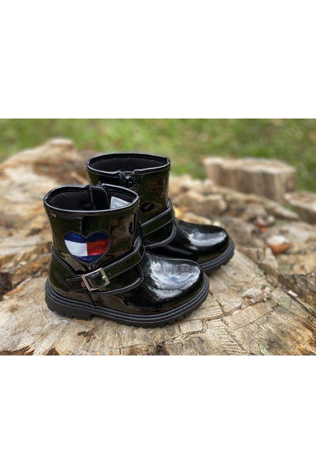 """TOMMY HILFIGER - Kotníkové boty """"Biker Boot"""" (Barva černá, Velikost 34)"""