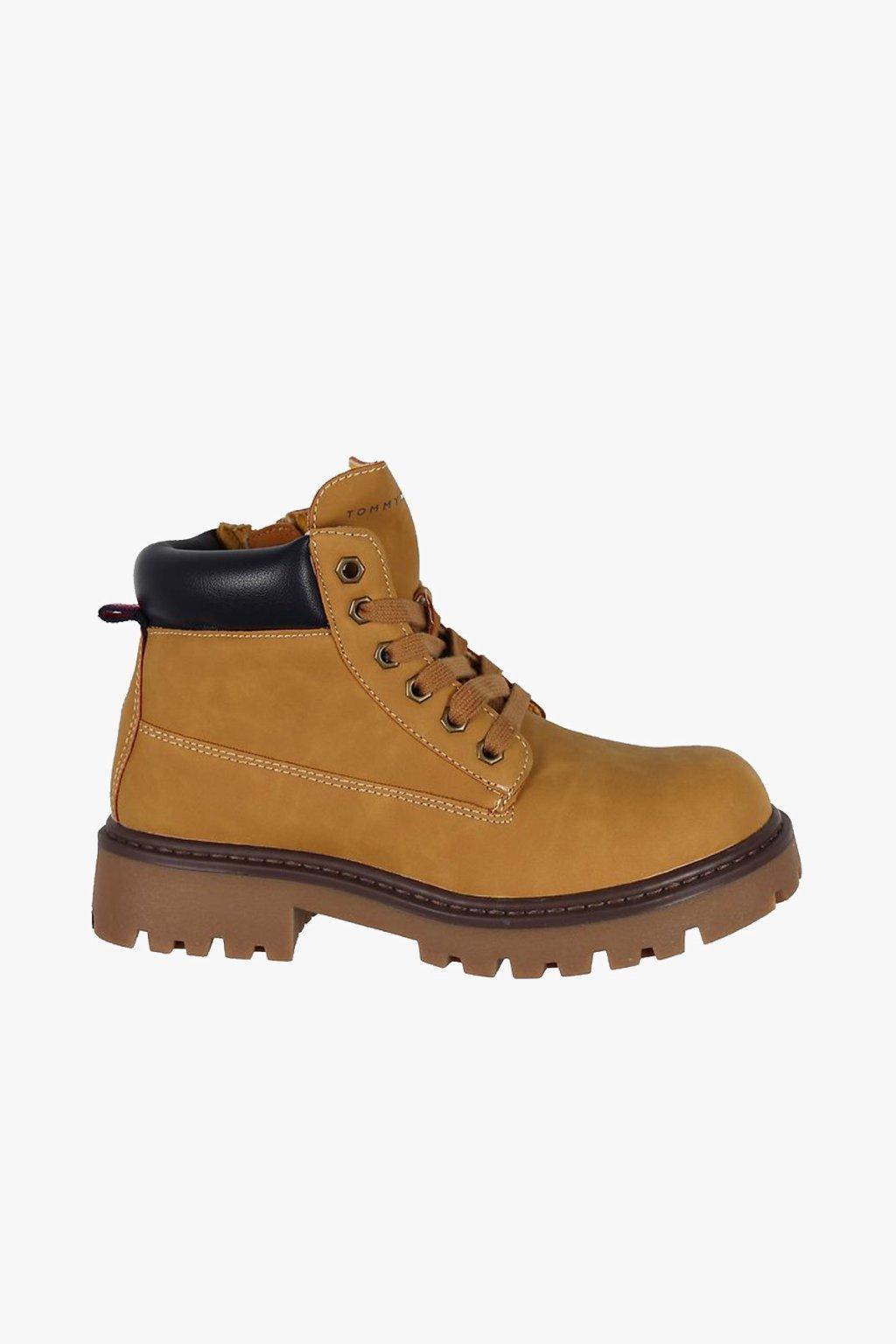 TOMMY HILFIGER - Chlapecká kotníková obuv (Barva Světle hnědá, Velikost 41)