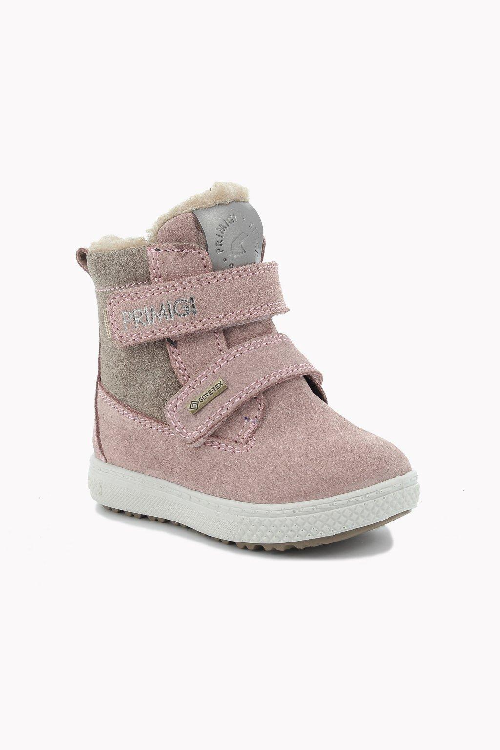 Primigi - GORETEX dívčí vysoká zimní obuv (Barva růžová, Velikost 29)