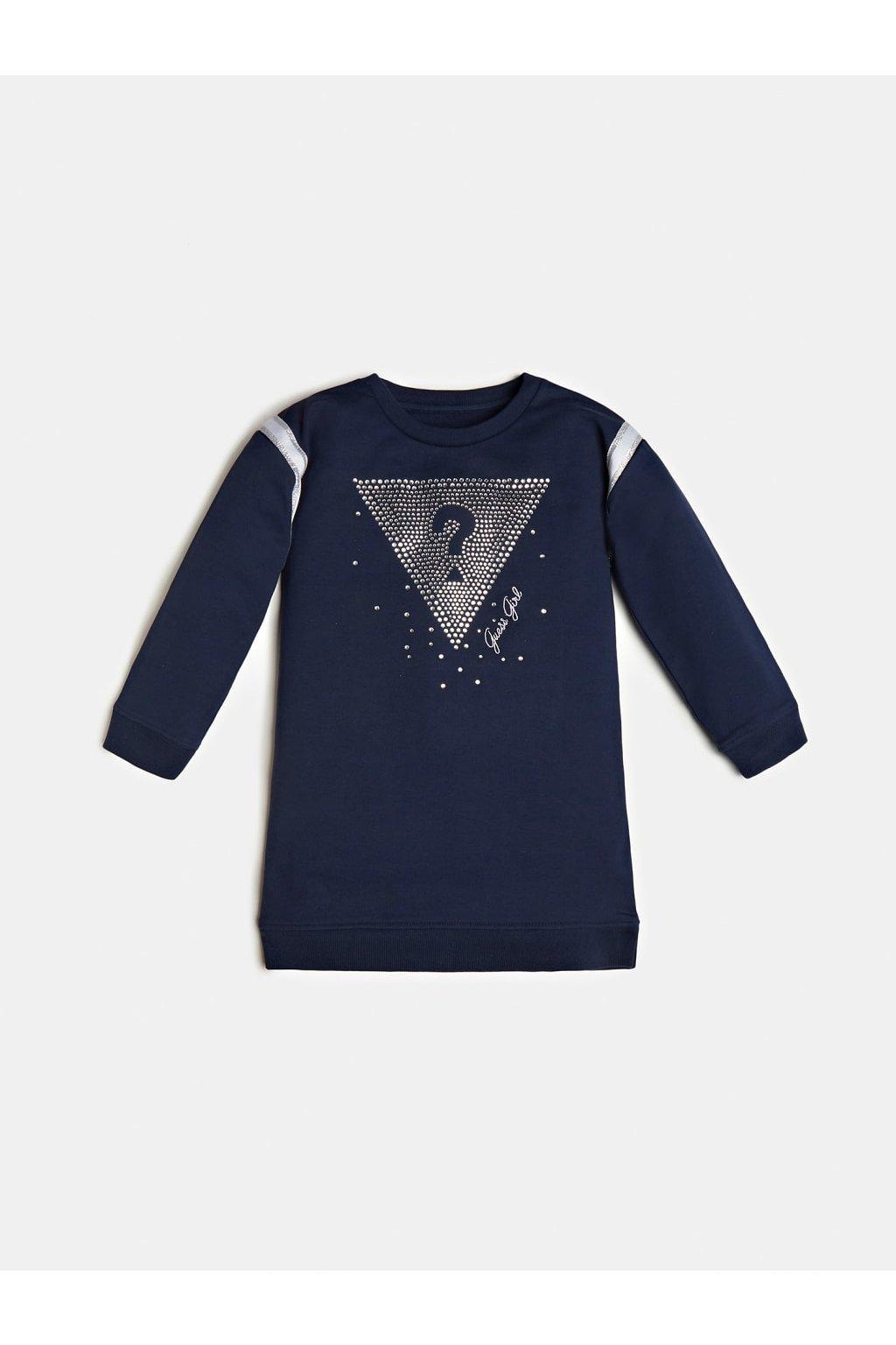 Guess - Dívčí mikinové šaty (Barva Tmavě modrá, Velikost 122)