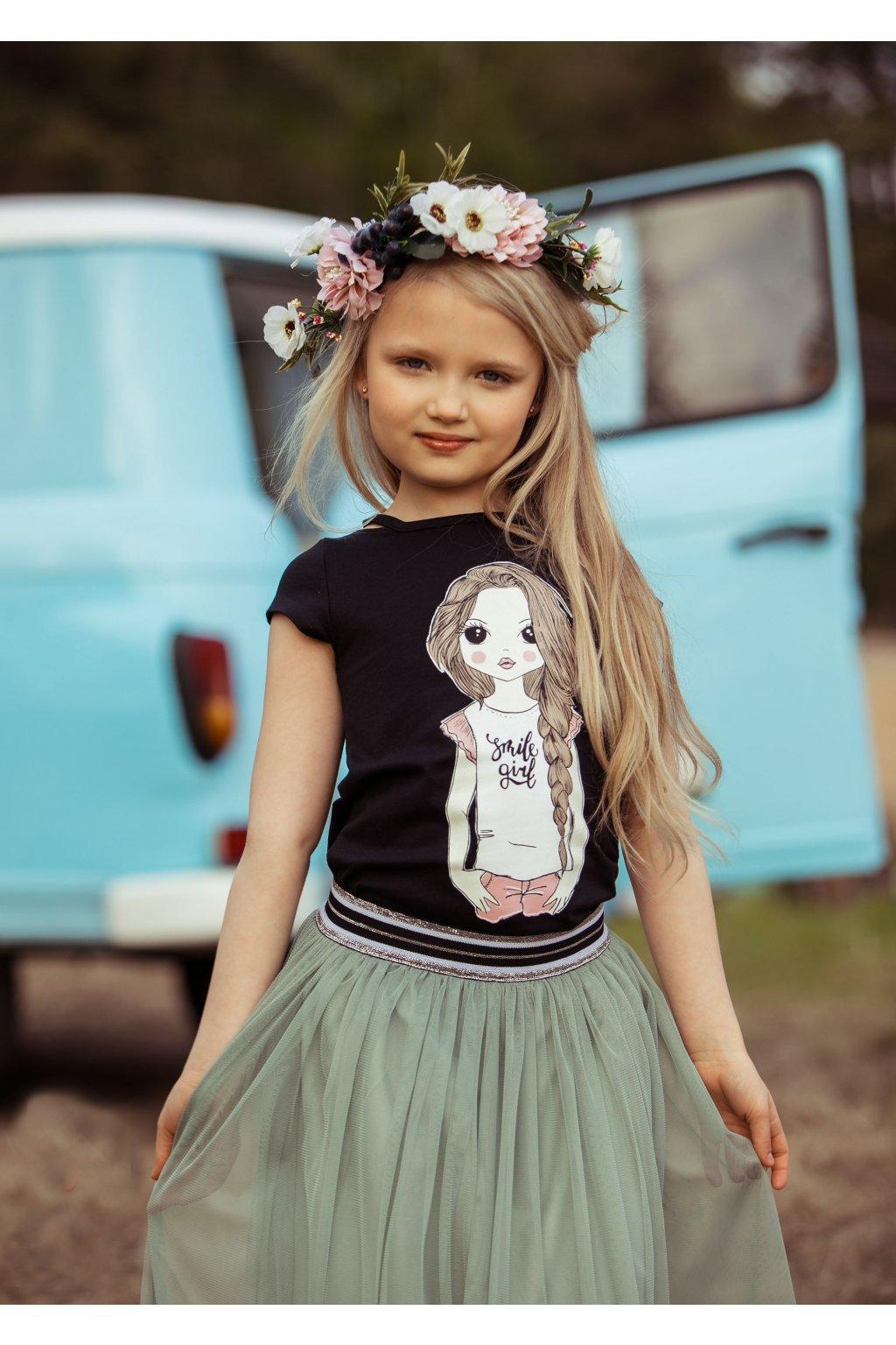 "ALL FOR KIDS - Tričko ""doll"" (Barva černá, Velikost 152/158)"
