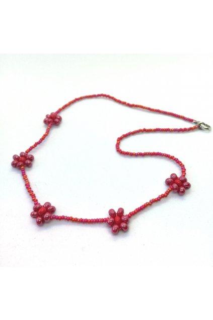 """Wowmini - Kytičkový náhrdelník """"Anabel"""" (Barva červená, Velikost UNI)"""