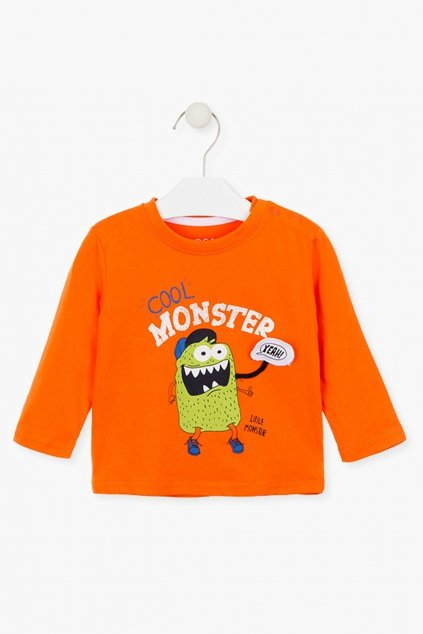 "LOSAN - Tričko ""monster"" (Barva Oranžová, Velikost 92)"