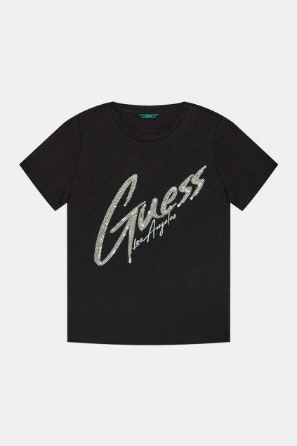 """Guess - Dívčí tričko """"GLITTER"""" (Barva Bílá, Velikost 128)"""