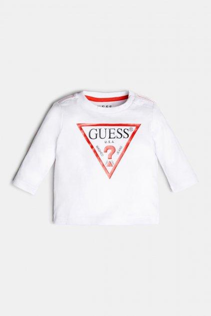 """Guess - Tričko s dlouhý rukávem """"CORE LINE"""" (Barva Bílá, Velikost 68)"""