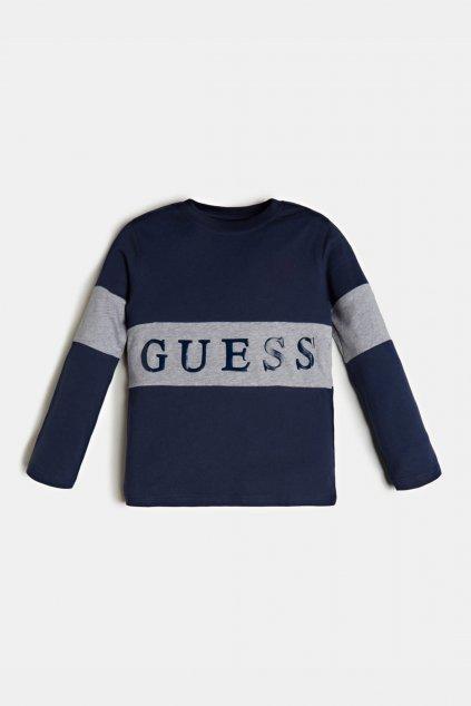 """Guess - Tričko s dlouhým rukávem """"Regular Fit"""" (Barva Tmavě modrá, Velikost 122)"""