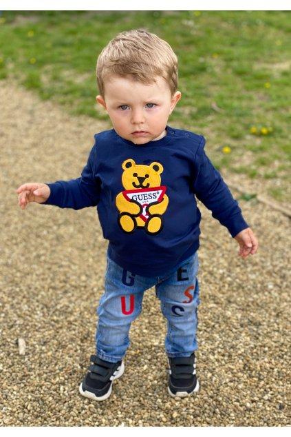 "Guess - Mikina ""TEDDYBEAR"" (Barva Tmavě modrá, Velikost 68)"