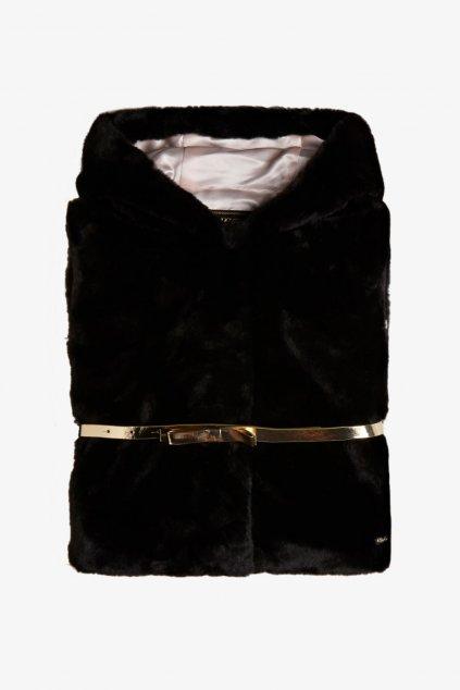 Guess - Dívčí vestička z umělé kožešiny (Barva Černá, Velikost 122)