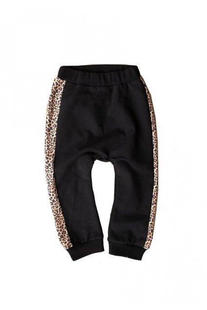 spodnie dzieciece ze wstawka leopard