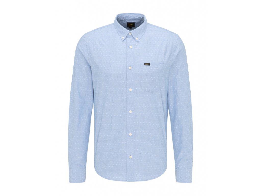 košile Lee SLIM BUTTON DOWN PEARL BLUE