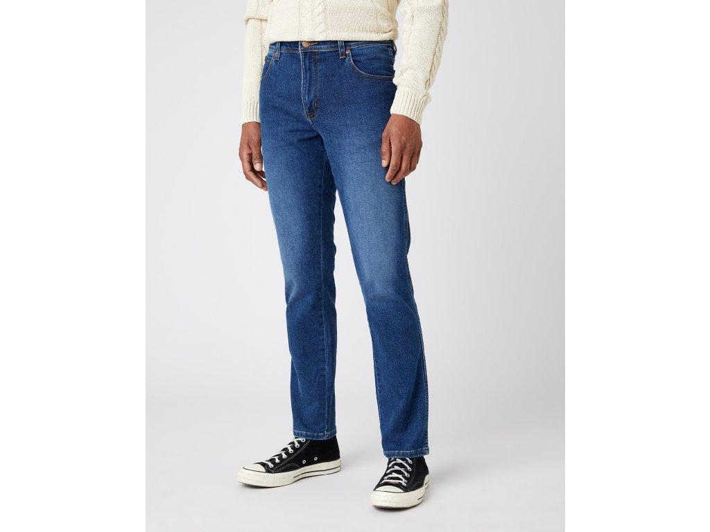 kalhoty Wrangler TEXAS SLIM BLUE SILK