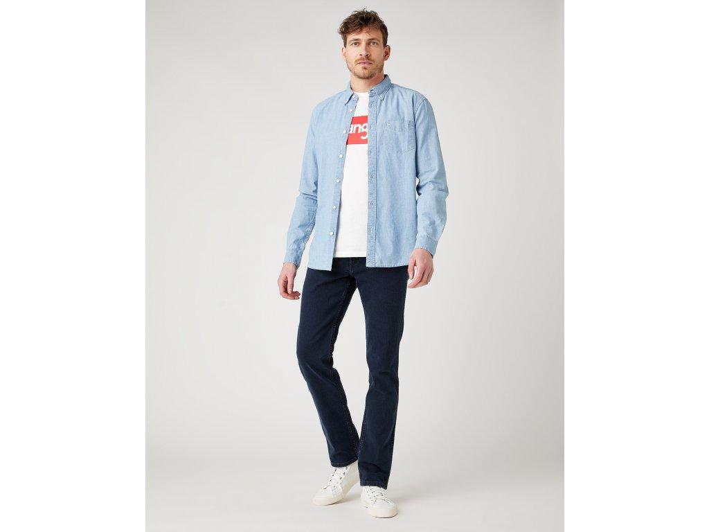 kalhoty Wrangler GREENSBORO IRON BLUE