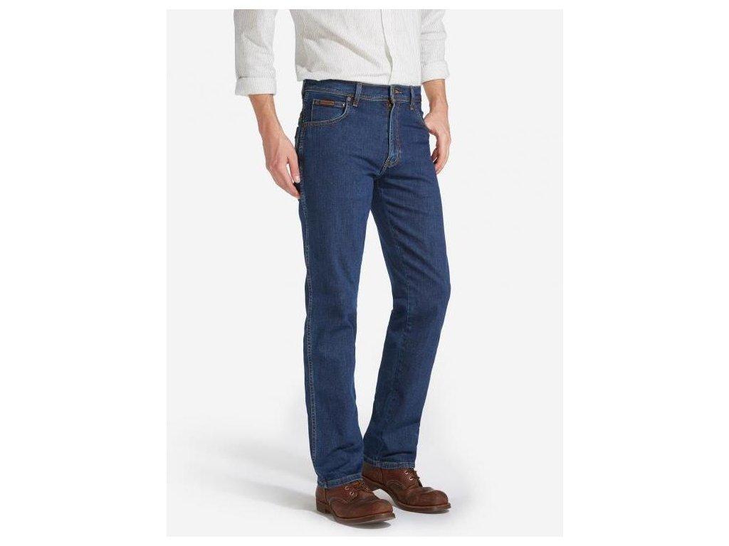 kalhoty Wrangler TEXAS STRETCH DARKSTONE