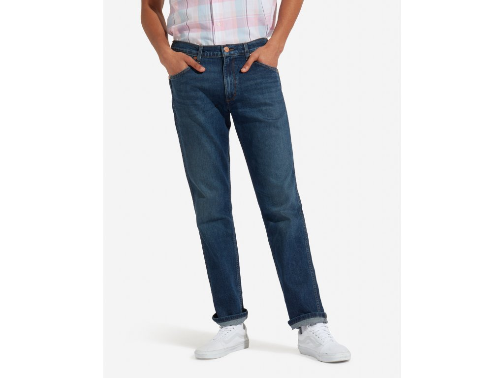 kalhoty Wrangler GREENSBORO INDIGO WIT