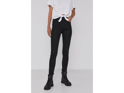kalhoty Wrangler HIGH RISE SKINNY FUTURE BLACK