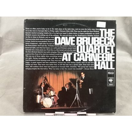 The Dave Brubeck Quartet ‎– At Carnegie Hall