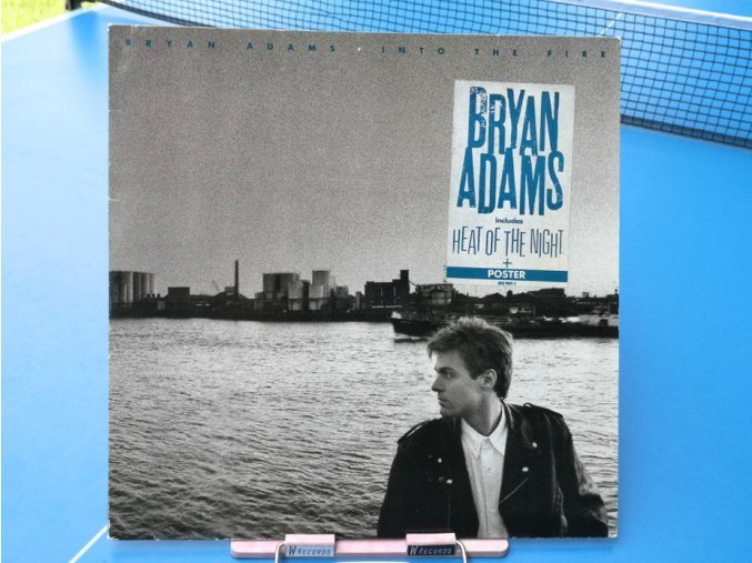 Bryan Adams ‎– Into The Fire + poster