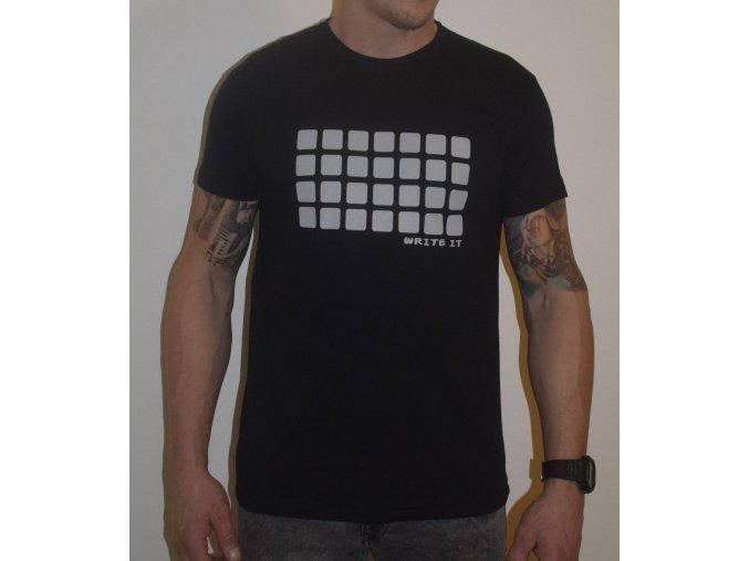 Tričko pro chlapy s krátkým rukávem - černé