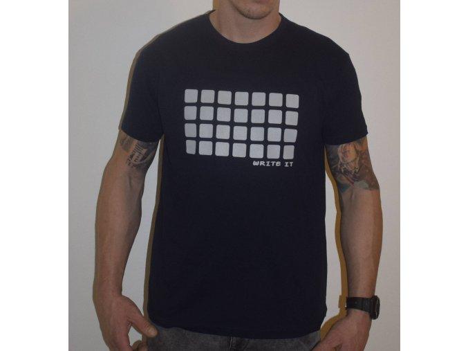 Tričko pro chlapy s krátkým rukávem - tmavě modré