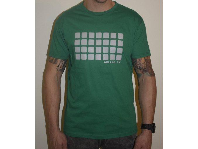 Tričko pro chlapy s krátkým rukávem - zelené