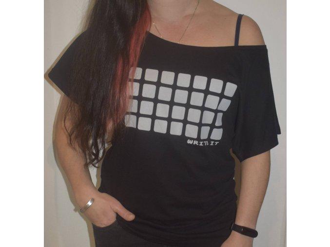 Tričko pro ženy s krátkým rukávem - černé