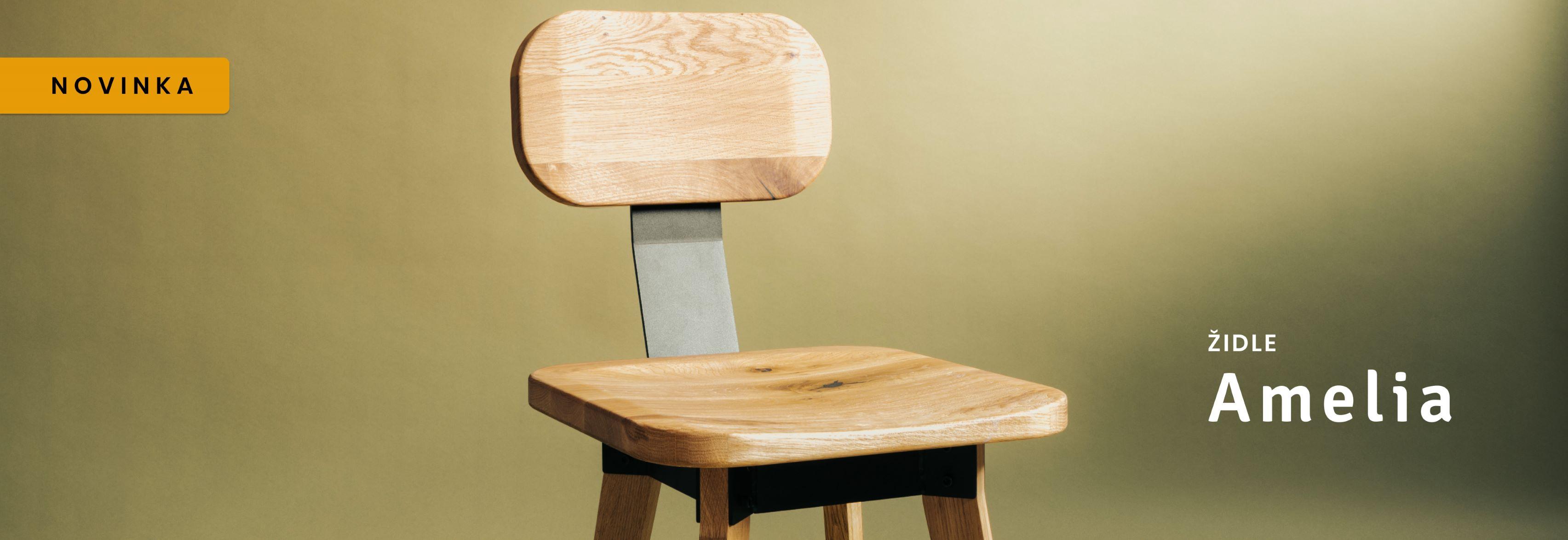 Masivní židle Amelia