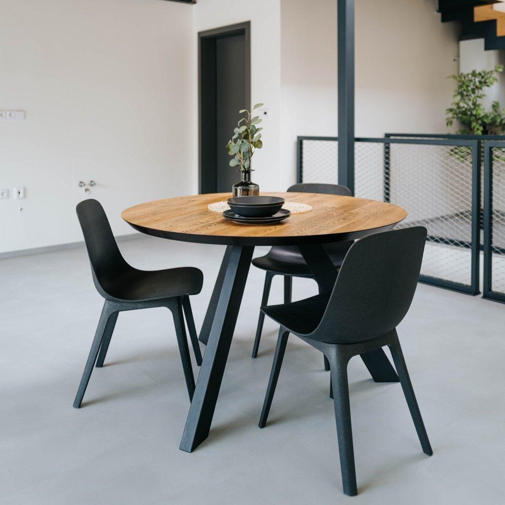 moderní kulatý stůl od Wuders