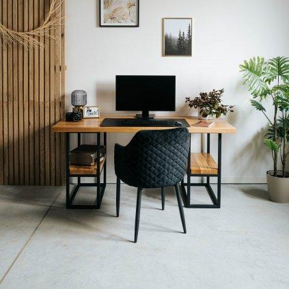 pracovní stůl z masivního dubového dřeva