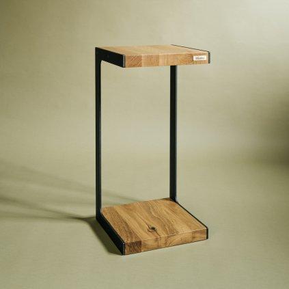 Odkládací stolek Celsius z masivního dubového dřeva