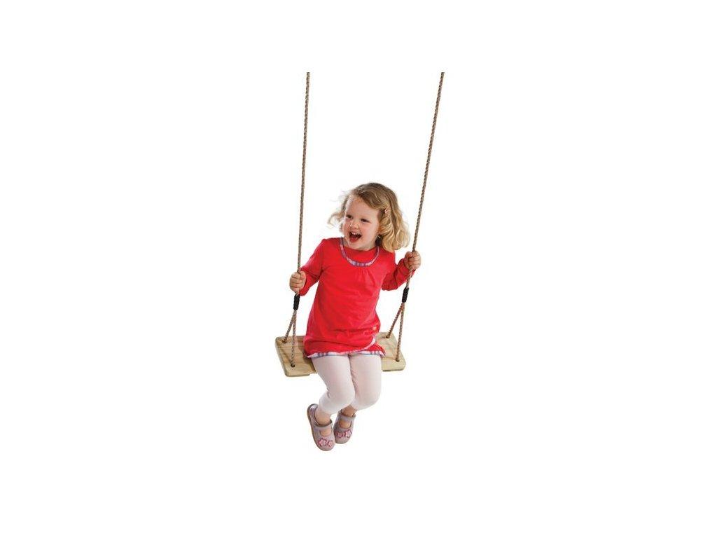Dřevěná dětská závěsná houpačka