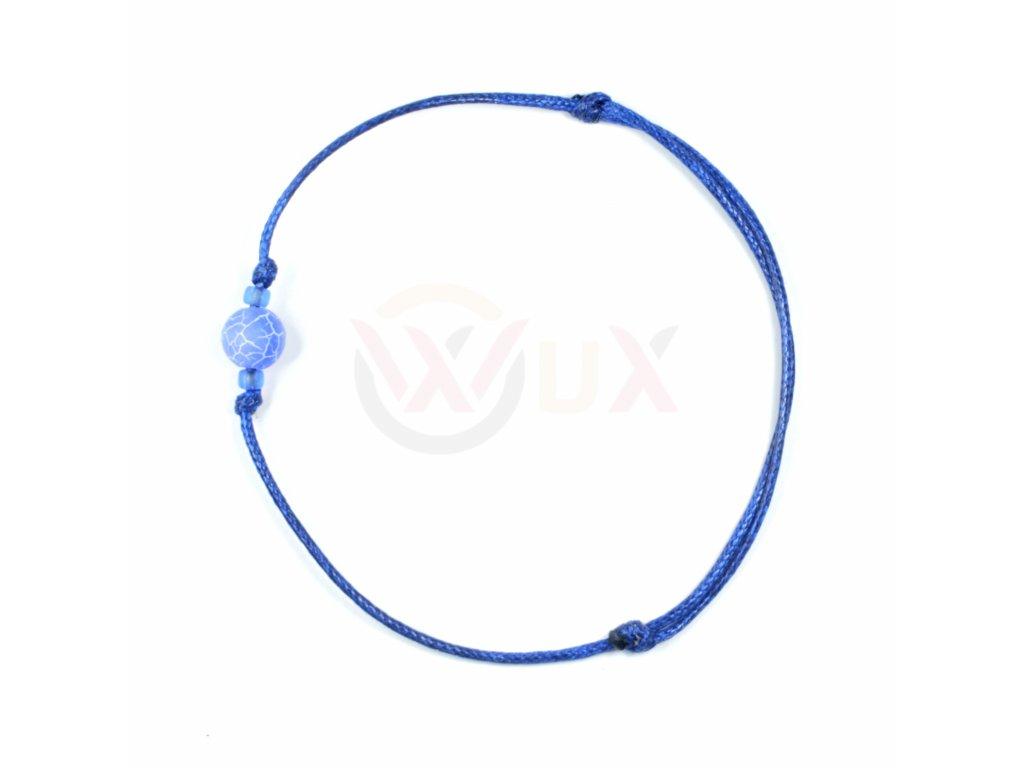 Blue praskany kaballah modrý