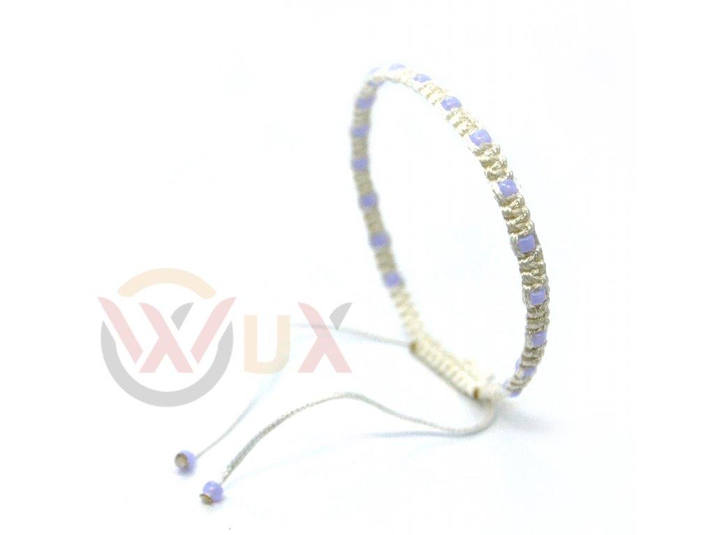Jemný pletený bílí+fialová I