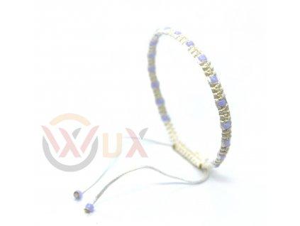 Bílý jemný fialová II