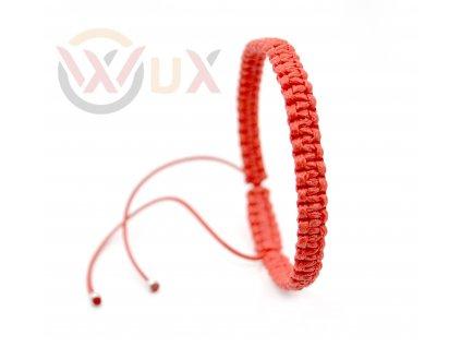 červený pletený koncovka