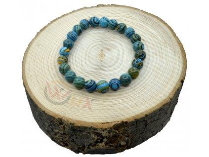 Náramek z minerálu modrý Malachit