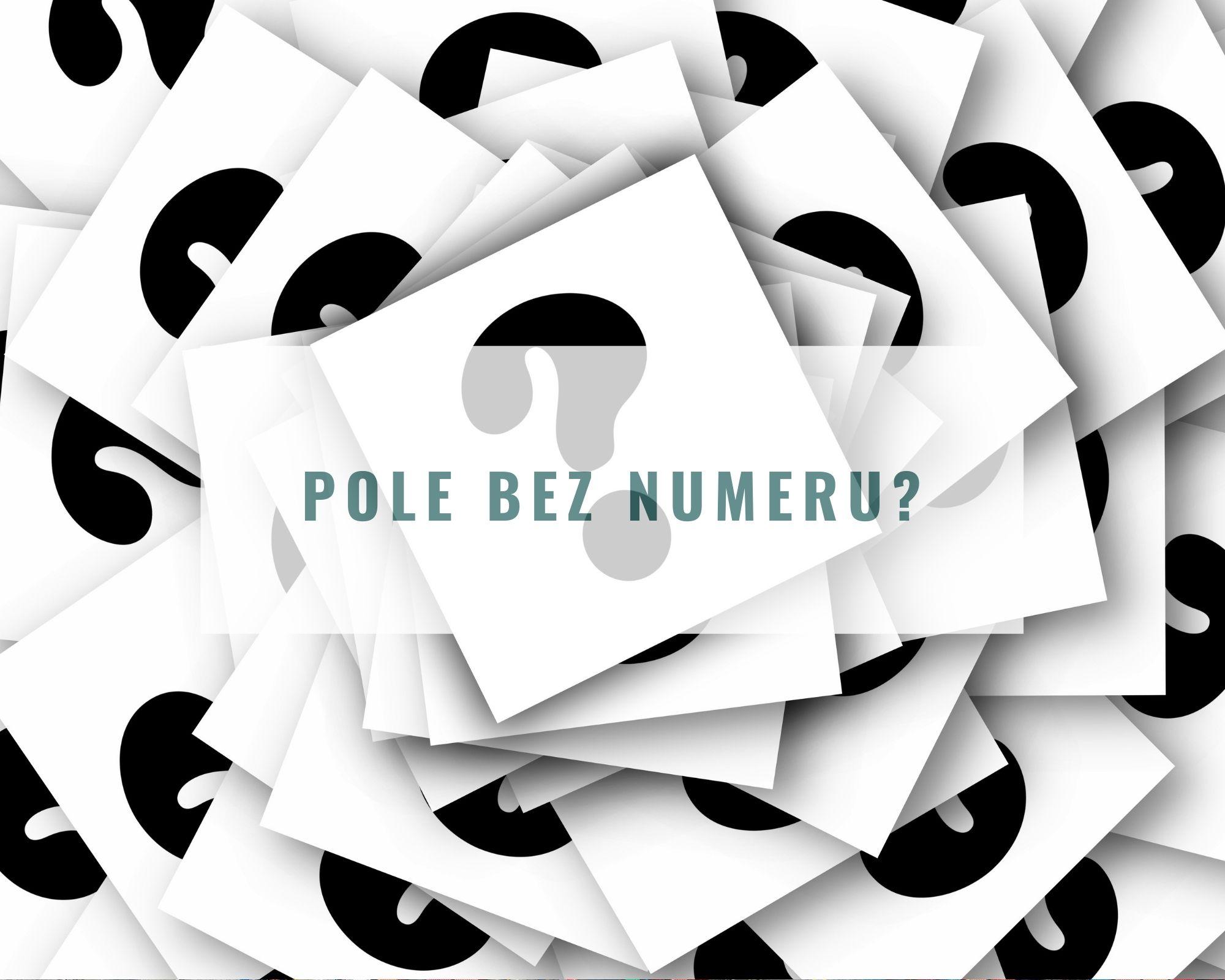 Znalazłeś pole bez numeru – jak to możliwe?