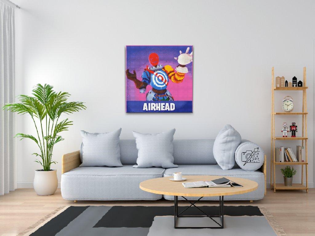 Diamantové malování - Fortnite - Airhead (Rámování Pouze srolované plátno, Velikost 50x50cm)