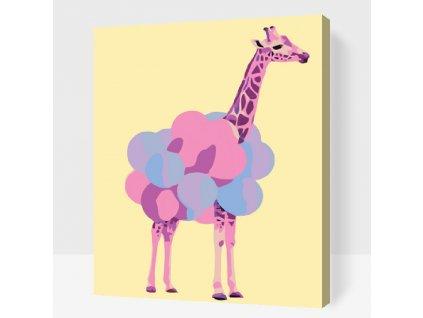 Malowanie numerami - Fioletowa żyrafa