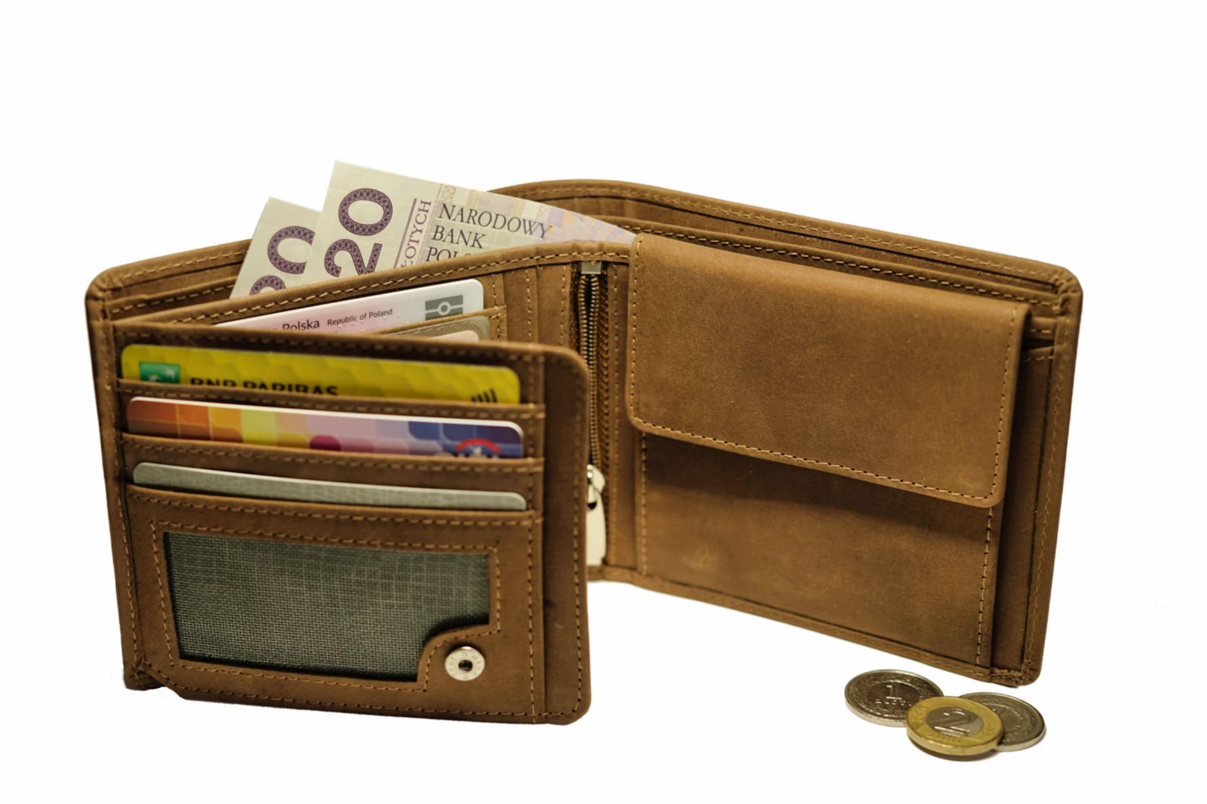 portfel męski, portfel dla mężczyzny, galanteria skórzana, portfel grawerowany