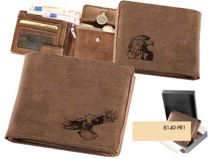 portfel z ptakiem, portfel męski, portfel z orłem