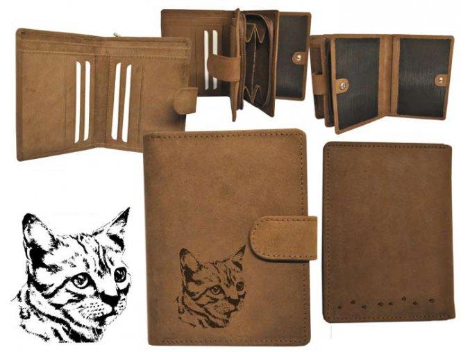 portfel damski ze skóry, portfel z kotkiem