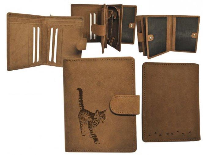 portfel z kotkiem