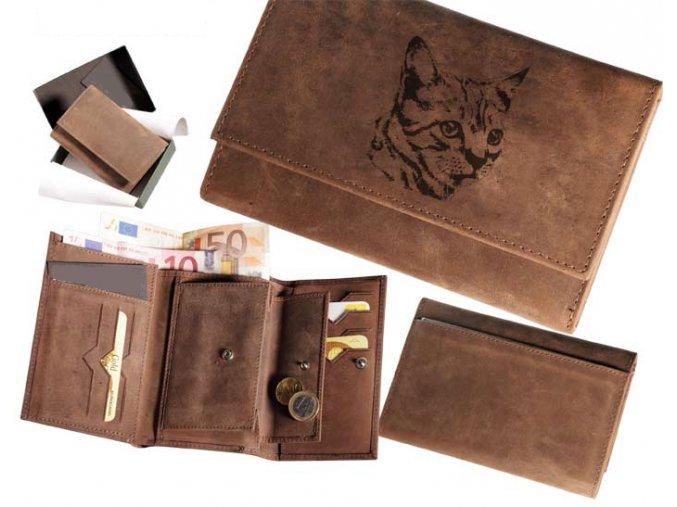 portfel damski z kotkiem