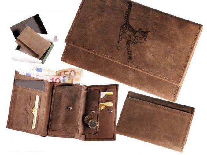 portfel z kotkiem, portfel damski