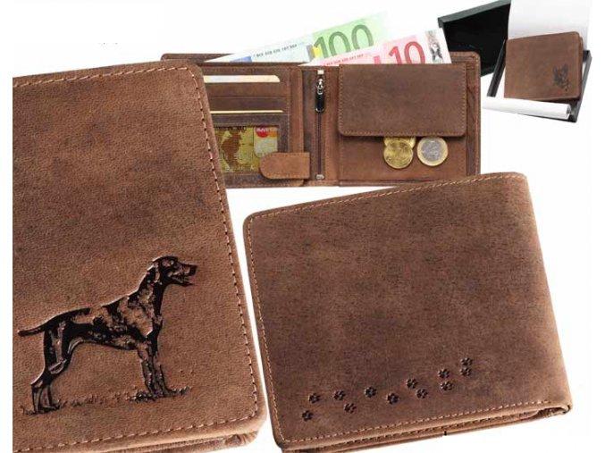 portfel z grawerem psa, portfel dla myśliwego