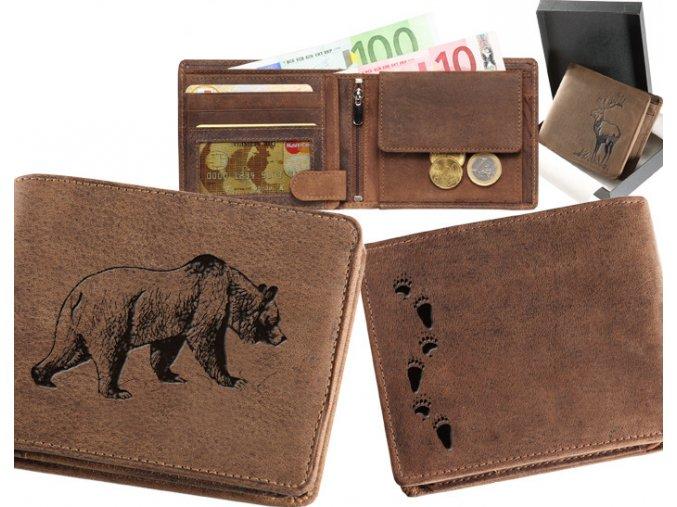 portfel dla myśliwego, portfel z niedźwiedziem